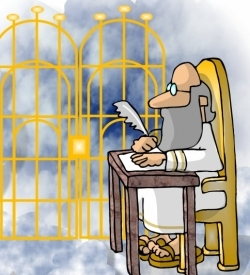 Peter at the Pearly Gates