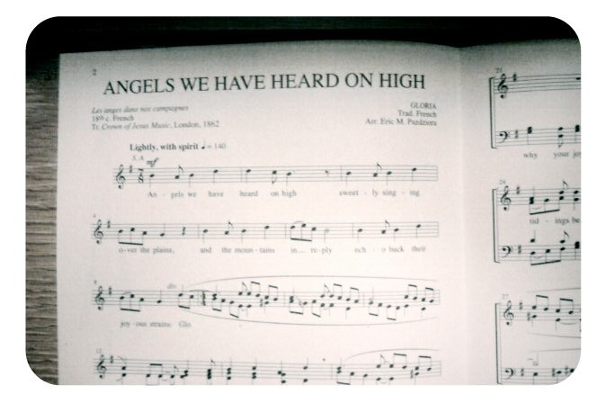 """Angels We Have Heard On High"" now in print!"